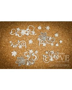 Chipboard izrezki - Ornament s kostanjem - Laserowe Love