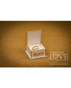 Laserski izrez - 3D škatlica za prstana - Laserowe Love