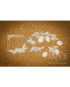 Chipboard izrezki - Limone - Laserowe Love