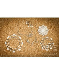 Chipboard izrezki - Ure - Laserowe Love