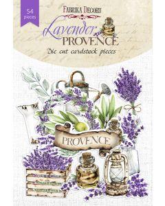 Set izrezov iz papirja - Lavender provence - 54 kos - 250g