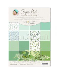 Set obojestranskih papirjev - Leaves 04 - 21x29cm - 16 listov - 250g - LemonCraft