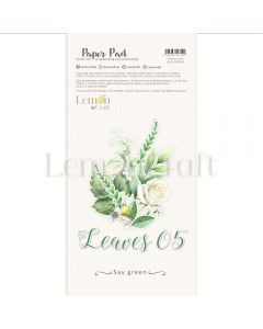 Set obojestranskih papirjev - Leaves V - 15,24x30,5cm - 24 listov - 250g - Lemoncraft