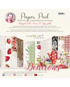 Set obojestranskih papirjev - Delicious - 15x15cm - 24 listov - 250g - Lemoncraft
