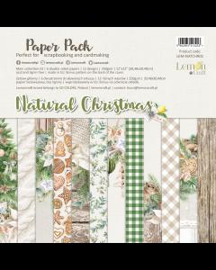 Set obojestranskih papirjev - NATURAL CHRISTMAS - 30x30cm - 6 listov - 250g - Lemoncraft