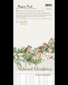 Set obojestranskih papirjev za rezanje - NATURAL CHRISTMAS - 15,24x30,5cm - 24 listov - 250g - Lemoncraft