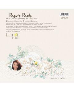 Set obojestranskih papirjev - Sentimental - 30x30cm - 6 listov - 250g - Lemoncraft
