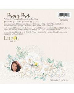 Set obojestranskih papirjev - Sentimental - 15x15cm - 24 listov - 250g - Lemoncraft