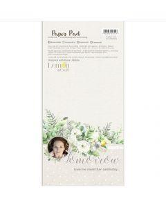Set obojestranskih papirjev za rezanje - Tomorrow - 15,24x30,5cm - 24 listov - 250g - Lemoncraft