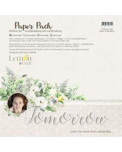 Set obojestranskih papirjev - Tomorrow - 30x30cm - 6 listov - 250g - Lemoncraft