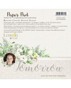 Set obojestranskih papirjev - Tomorrow - 15x15cm - 24 listov - 250g - Lemoncraft