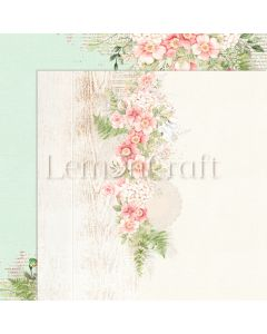 Obojestranski papir - Raspberry Garden 06 - 30,5x30,5cm - 250g - LemonCraft