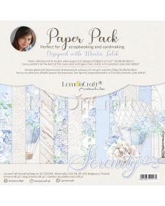 Set obojestranskih papirjev - Serenity - 30x30cm - 6 listov - 250g