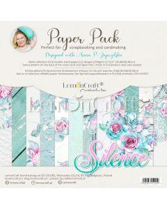Set obojestranskih papirjev - Silence - 30x30cm - 6 listov - 250g - LemonCraft