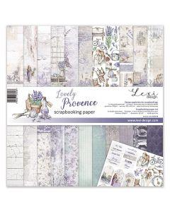 Set dvostranskih papirjev - Lovely Provence - 30,5x30,5cm - 250g - 11 listov+bonus list - Lexi Design