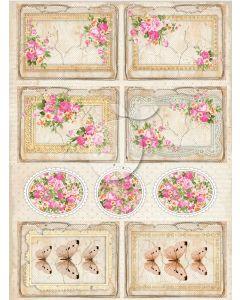 Enostranski papir - Vintage time 030  30,5 x 30,5 cm