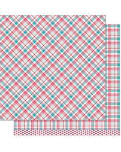Dvostranski papir - Lynette Remix - 30,5x30,5cm -200g - Lawn Fawn
