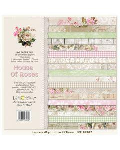 Set enostranskih papirjev -House of roses  15 x 15 cm
