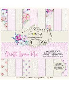 Set enostranskih papirjev - Just love me  15 x 15 cm