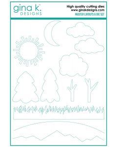 Rezalna šablona - MASTER LAYOUTS 6 - Gina K Designs