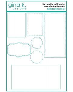 Rezalna šablona - MASTER LAYOUTS 7 - Gina K Designs