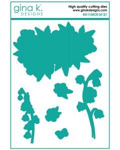 Rezalna šablona - MAY FLOWERS - Gina K Designs