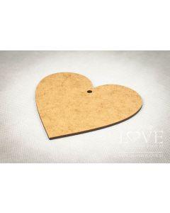 Lesena plošča - HDF - Srce z luknjo - 9x8,5cm - Laserowe LOVE