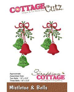 Rezalna šablona CottageCutz Mistletoe & Bells