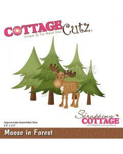 Rezalna šablona CottageCutz Moose In Forest