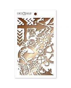 Stencil šablona - 406 - 12,5x20,5cm - Ciao Bella