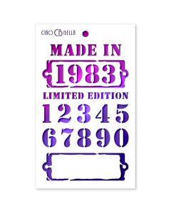 Stencil šablona - LIMITED EDITION - 12,5x20,5cm - Ciao Bella