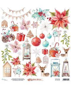 Dvostranski papir - Christmas Stories - 30,5x30,5cm - 1 list - 240g - Mintay