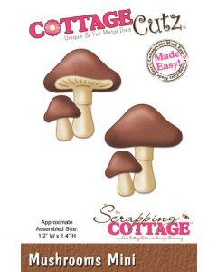 Rezalna šablona CottageCutz Mushrooms Mini