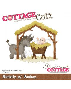 Rezalna šablona CottageCutz Nativity w/ Donkey