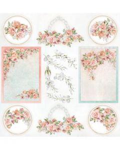 Enostranski papir - Amidst the Roses - 30,5x30,5cm - 250g
