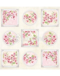 Papir za rezanje - Pink Blossom 2 - Cover - 30,5x30,5cm - 250g