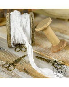 Dekorativni trak - Old Fashion Ribbon - White - 1x1,2m
