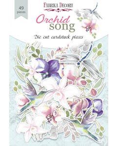 Set izrezov iz papirja - Orchid song - 48 kos - 250g