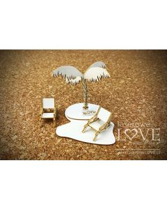 Chipboard izrezki - Palma 3D - 70x50x70mm - Laserowe Love