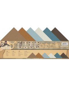 Set papirjev s teksturo Amy Design - Its a Mans World - 30,5x30,5cm - 12 listov - 250g