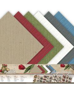 Set papirjev s teksturo Amy Design - Oud Hollands - 30,5x30,5cm - 12 listov - 250g