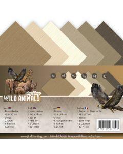 Set papirjev s teksturo Amy Design - Wild Animals - 13,5x27cm - 24 listov - 250g