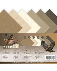 Set papirjev s teksturo Amy Design - Wild Animals - 14,8x21cm - 24 listov - 250g