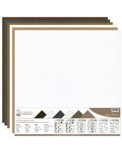 Set papirjev s teksturo Precious Marieke - Condoleance - 30,5x30,5cm - 12 listov - 250g