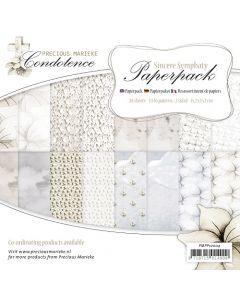 Set papirjev Precious Marieke - Condoleance - 15,2x15,2cm - 24 listov