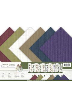 Set papirjev s teksturo Precious Marieke - Fantastic Flowers - 30,5x30,5cm - 12 listov - 250g