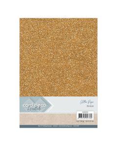 Papir z bleščicani Card Deco - A4 - Bronze - 230g - 6 listov
