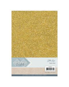 Papir z bleščicami Card Deco - A4 - Dark Gold - 230g - 6 listov