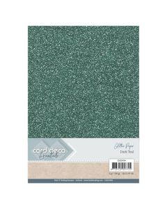Papir z bleščicani Card Deco - A4 - Dark Teal - 230g - 6 listov