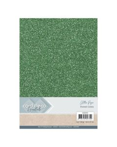 Papir z bleščicami Card Deco - A4 - Forrest Green - 230g - 6 listov